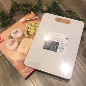 BAMBOO lazy Susan and 2 cutting boards - NEW